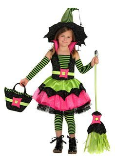 youth girls spiderina costume witch party costumesbirthday in a box - Girls Halloween Costumes For Kids