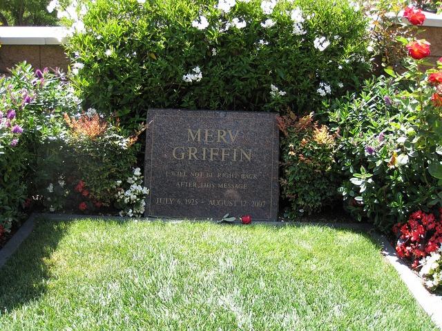 Merv Griffin Gravesite    Westwood Village Memorial Park Cemetery