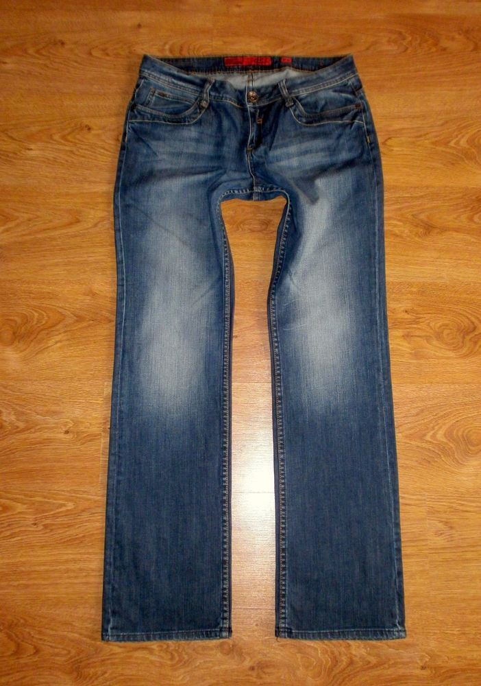 QS by s.Oliver Damen Jeans CATIE Slim Low Straight  Hüft Gr. 42/34 42 L34