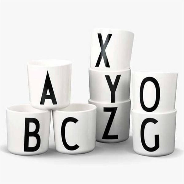 Alphabet melamine cup www.desa.life