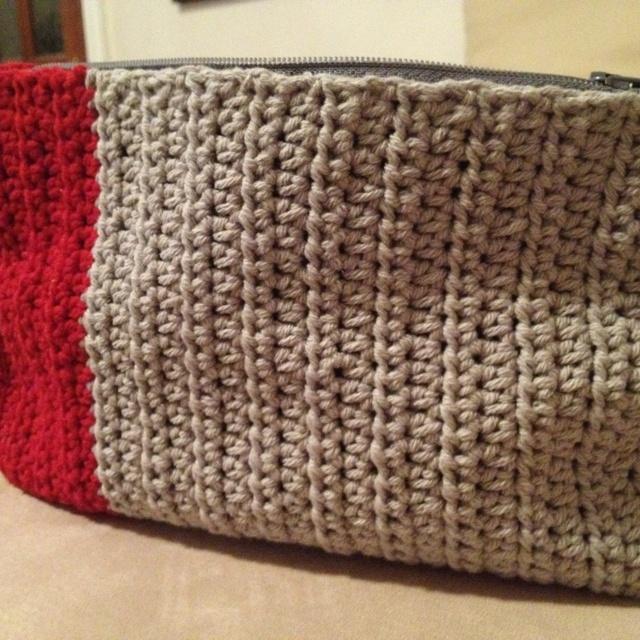 Handmade crochet makeup bag