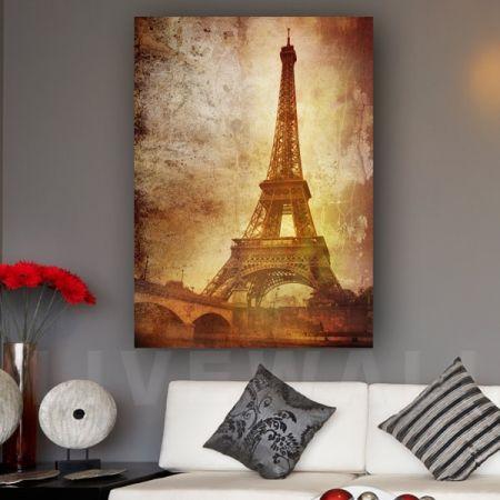 Vintage Eiffel πίνακας σε καμβά