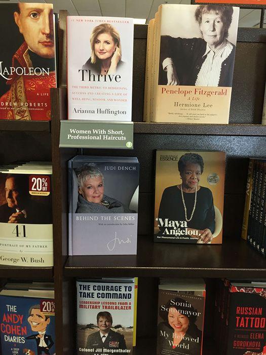 Забавные альтернативные названия для книжныхполок Хорошая стрижка - залог популярности книги.