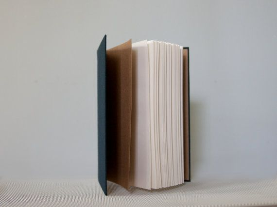 Slim Navy Notebook with Round Spine