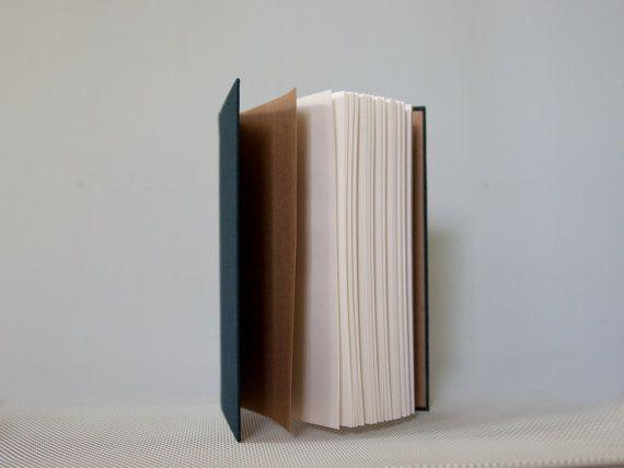 Slim Navy Notebook with Round Spine