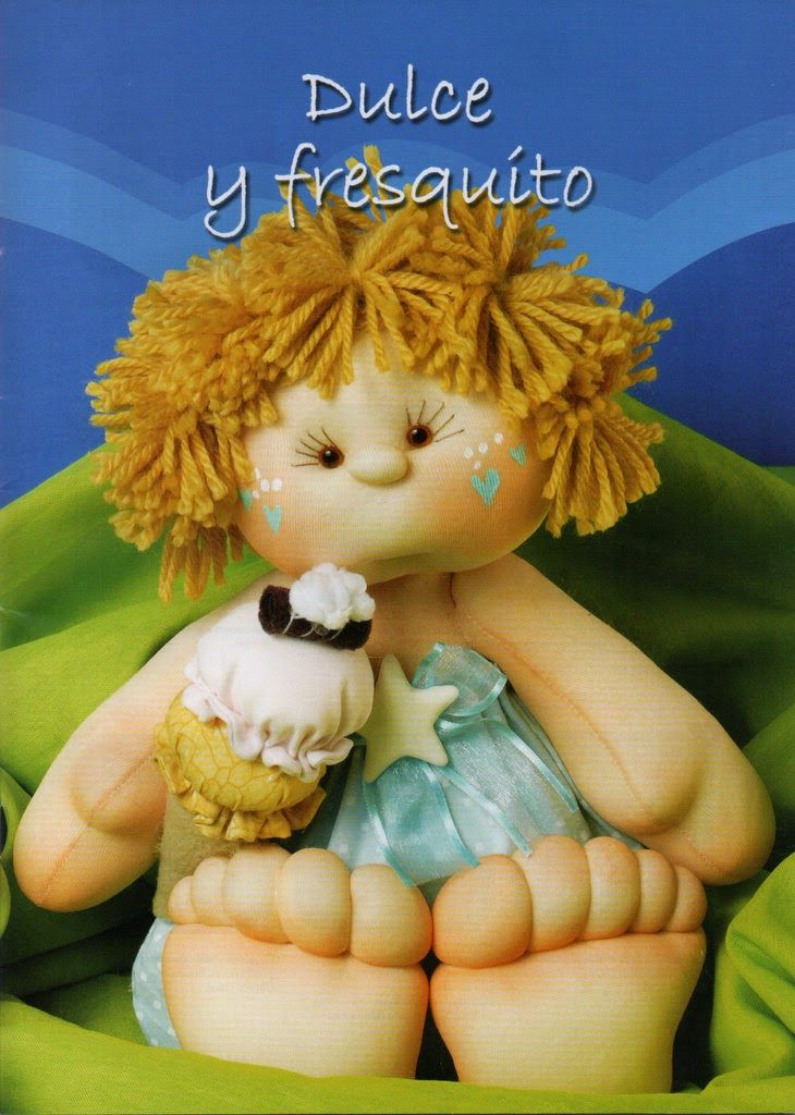 Revistas de manualidades gratis: como hacer una muñeca soft...FREE BOOK WITH PATTERNS AND PICTURE TUTORIALS!!