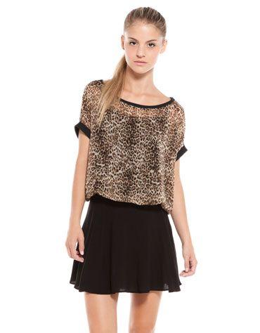 Bershka México - Blusa BSK estampado leopardo