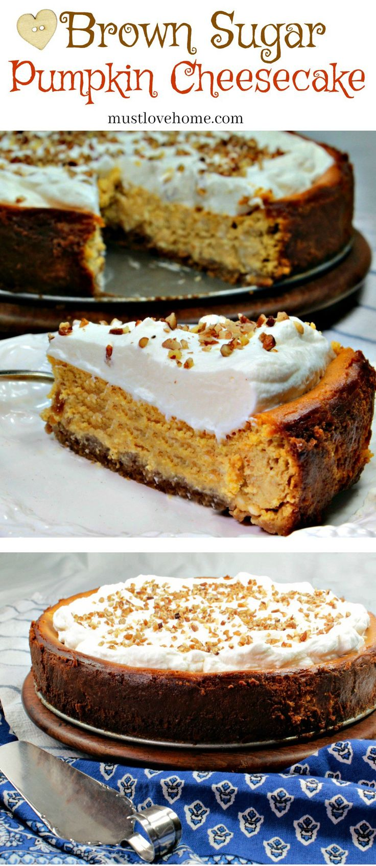 Brown Sugar Pumpkin Cheesecake is a velvety, rich cheesecake with extraordinary flavor. Move over pumpkin pie - make this instead and impress your guests!
