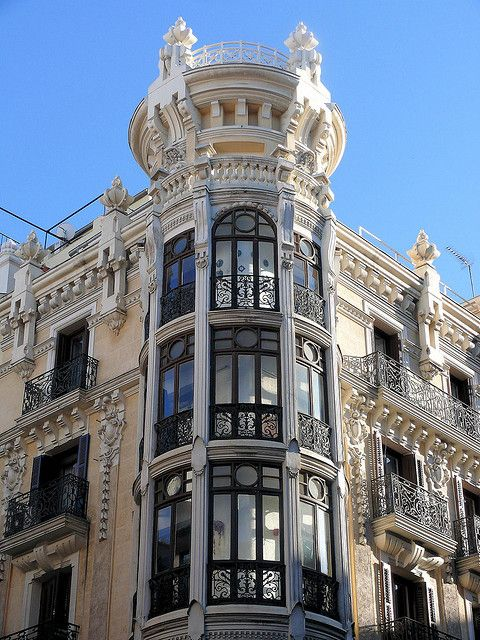Spain, Madrid Modernismo 3 Calle Mayor