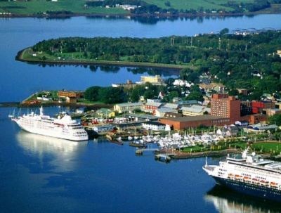 An aerial view of Charlottetown, Prince Edward Island
