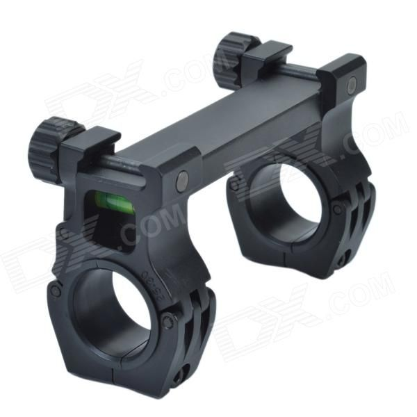 M10QD-01 30mm Caliber U-Shaped Aluminum Alloy Bracket Dual-Scope Mount - Black Price: $29.70