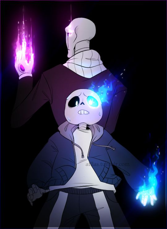 UT fanart - Sans and Gaster Two sides of the same Flame | bad time