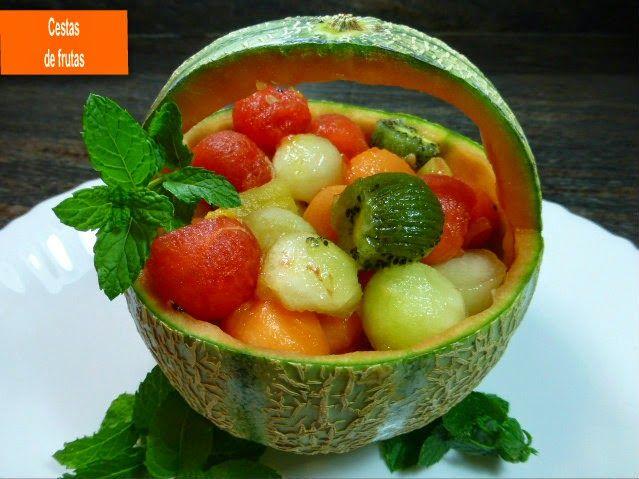 Mi horno de le a cestas de frutas postres pinterest for Cestas para lena