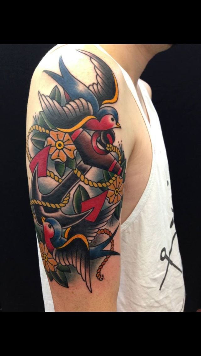 25 best ideas about old school tattoo designs on for Higher ground tattoo