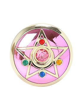High quality prop replica of Sailor Moon's second transformation item, the stunning Crystal Star! Press the Silver Crystal to hear transformation sounds!