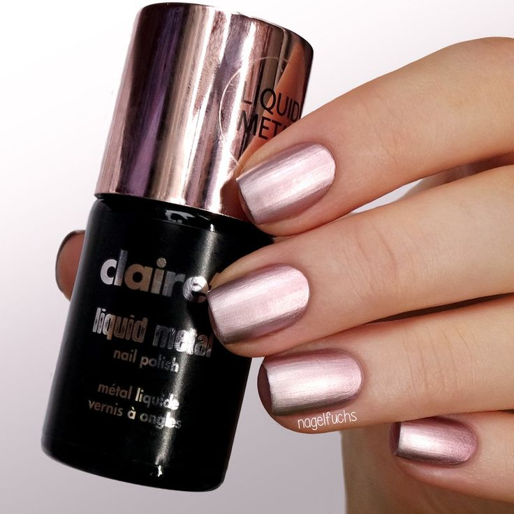 Nailpolis Museum of Nail Art | Claire's Liquid Metal Rose Gold Swatch by nagelfuchs