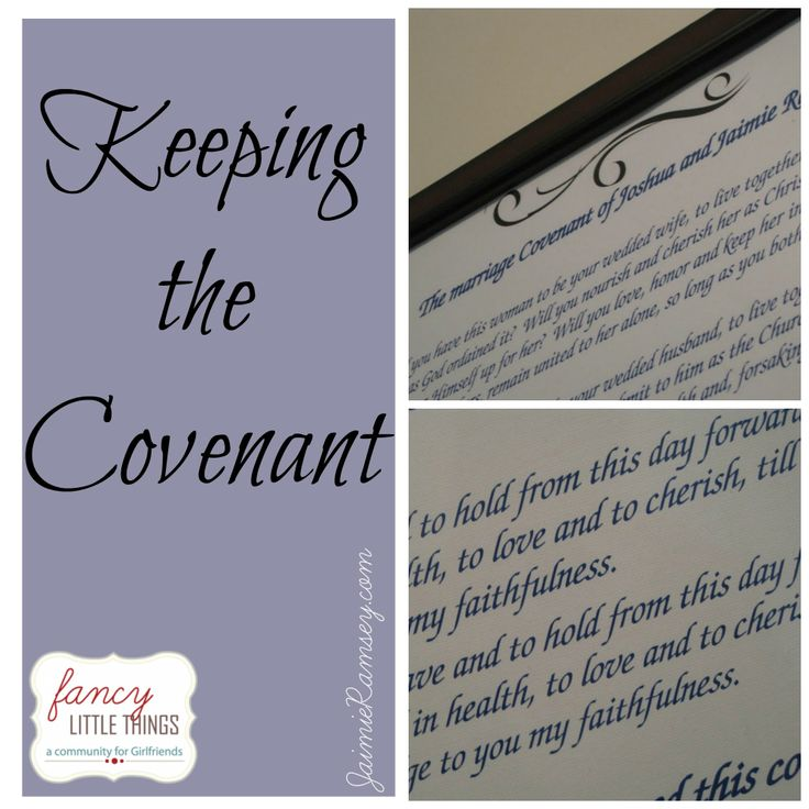 Keeping The Covenant Wedding Idea Artistically Print Out Your Vows And Have