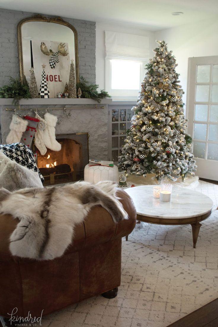 home for christmas kindred vintage co winter interior design rh pinterest com