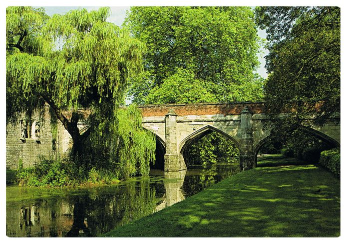 Eltham Palace gardens, the childhood home of King Henry VIII at Greenwich, London.