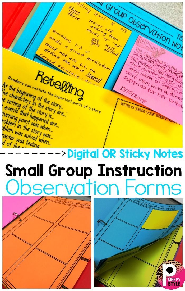 Small Group Observation Notes Data Tracker Small Groups Small Group Instruction Writing Instruction