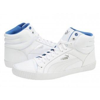 Ghete sport barbati Puma Street Jump mid L white-blu