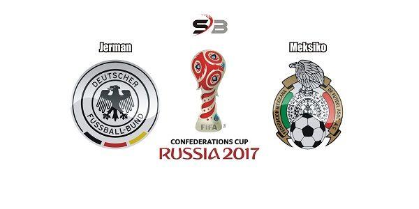 Prediksi bola Jerman vs Meksikobabak semifinal Piala Konfederasi pada tanggal 30 juni 2017 bertempat Olimpiyskiy Stadion Fisht, Sochi, bertemu juara dunia dengan wakil amerika latin.    Jerman berhasil masuk ke babak semifinal Piala Konfederasi akan bertemu dengan Meksiko hari jumat nanti, Jerman pada laga terakhir berhasil menang 3-1 dari Kamerun. Pelatih Jochim Low tetap memakai strategi dan