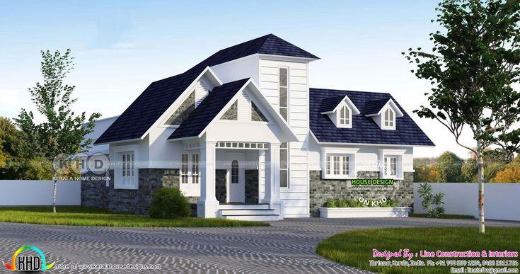 Double storied look like single floor European model home