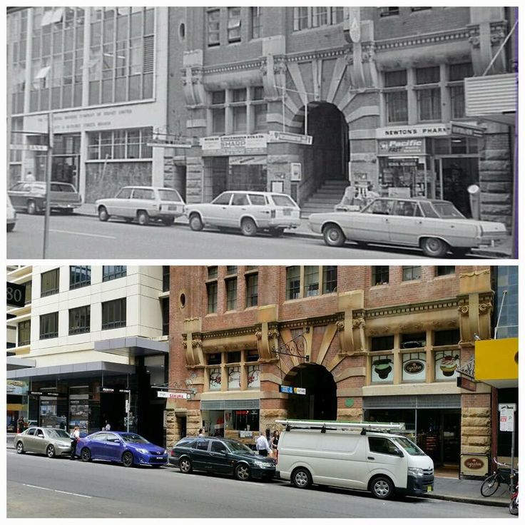 Reverse parking 40 years on. Looking west across Pitt St nr Bathurst St 1976>2016 [1976-City of Sydney Archives>2016-Allan Hawley. By Allan Hawley.