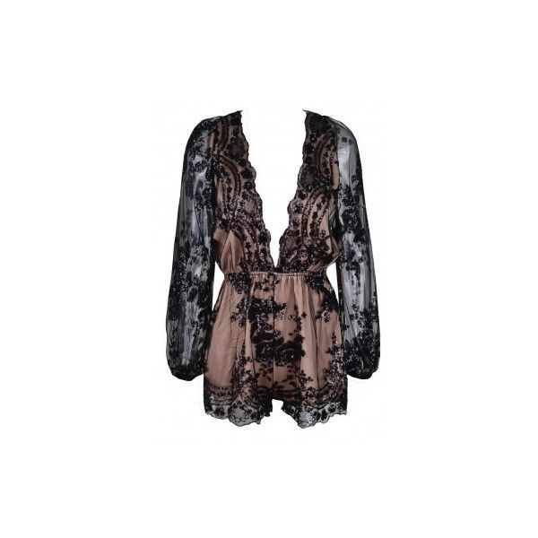 Floral Sequin Romper ($128) ❤ liked on Polyvore featuring jumpsuits, rompers, floral rompers, playsuit romper, flower print romper, floral print romper and floral romper
