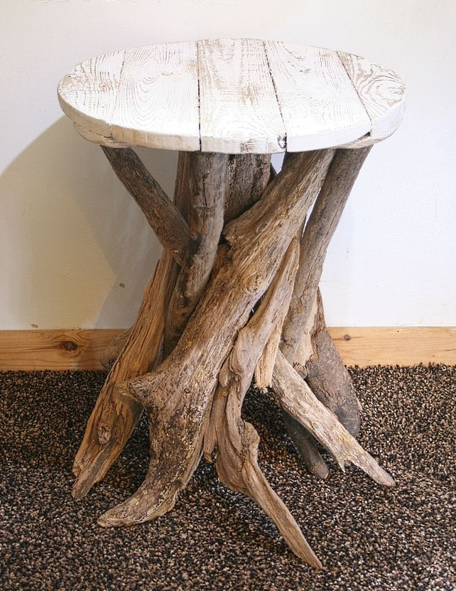 Tables - Driftwood End table. This is perfect end table between the twin beds in My Dream Beach house's #2 guest room.