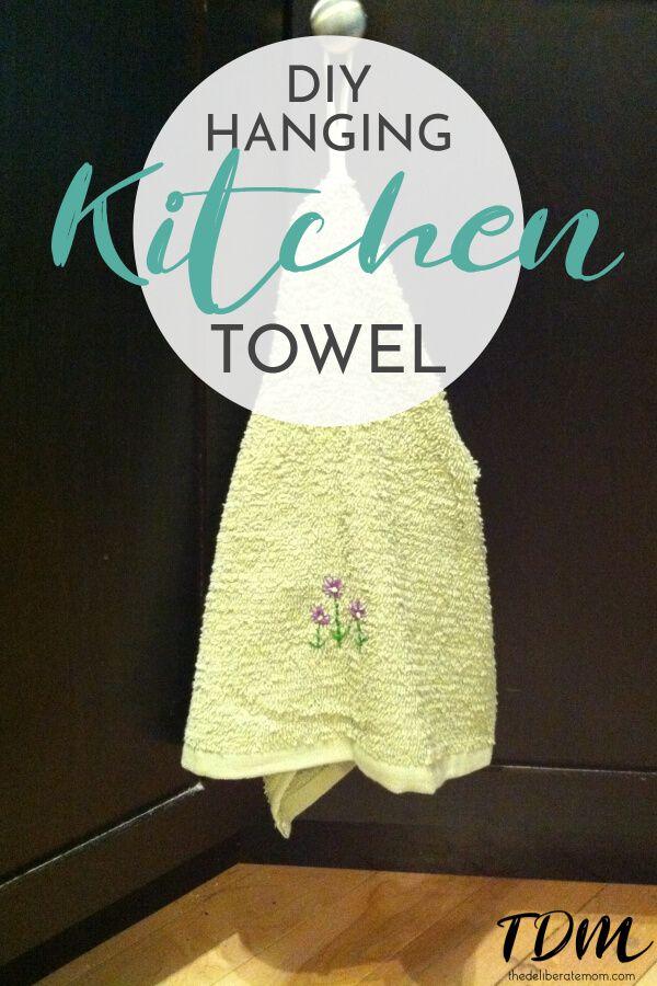 hanging kitchen hand towel easy diy tutorial organize your life rh pinterest com
