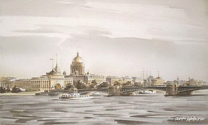 Дворцовый мост летом
