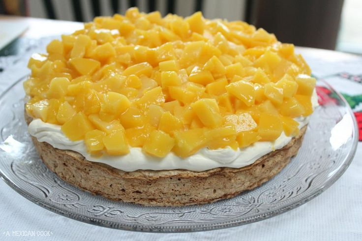 My Mango Mostachon Cake... amazingly light, chewy and summery. #MexicanFood