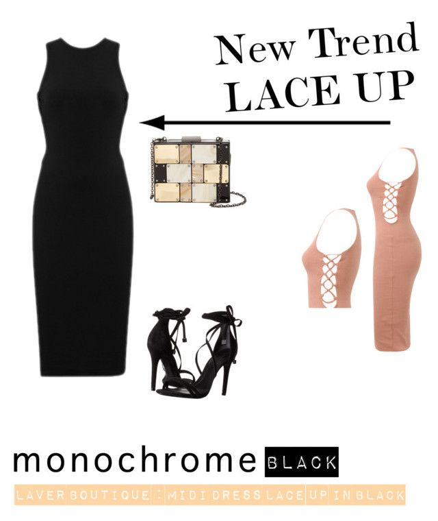 """Lace Up @ Laver Boutique"" by laverboutique on Polyvore featuring Schutz and Sondra Roberts"