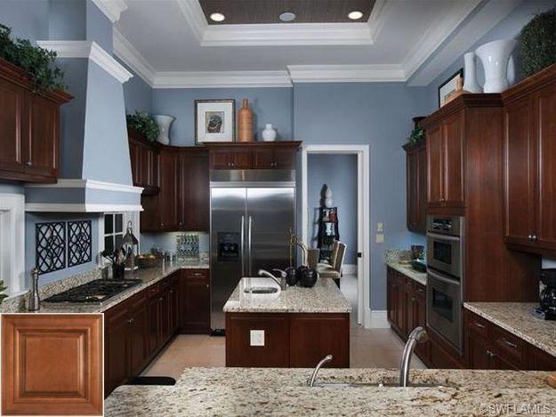Before You Buy Light Oak Cabinet Kitchen Ideas Oakkitchencabinets Kitchencabinets Popular Kitchen Colors Blue Kitchen Walls Kitchen Wall Colors