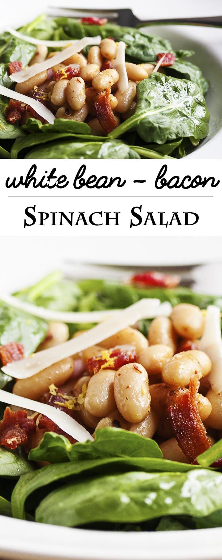 Warm White Bean, Bacon, and Spinach Salad | Recipe | Night, Warm and ...