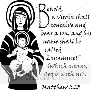 Immaculate Conception verse (MT1:23)