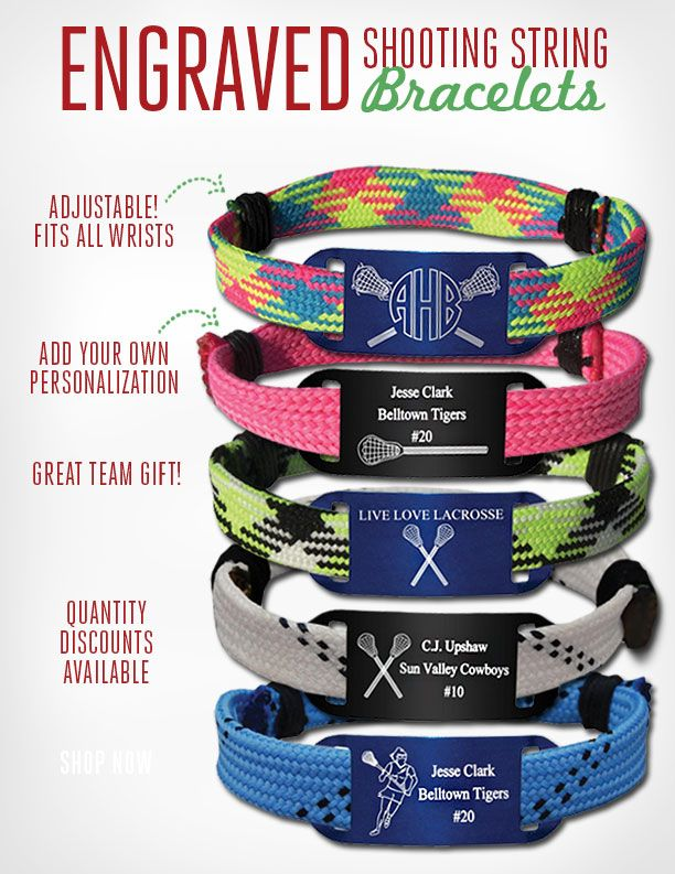 How Awesome Are These Shooting String Bracelets Get Yours Today College Life Pinterest Lacrosse And S