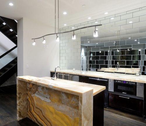 Enlarging Your Small Kitchen With Reflection Ideas Subway Tile Backsplashmirror