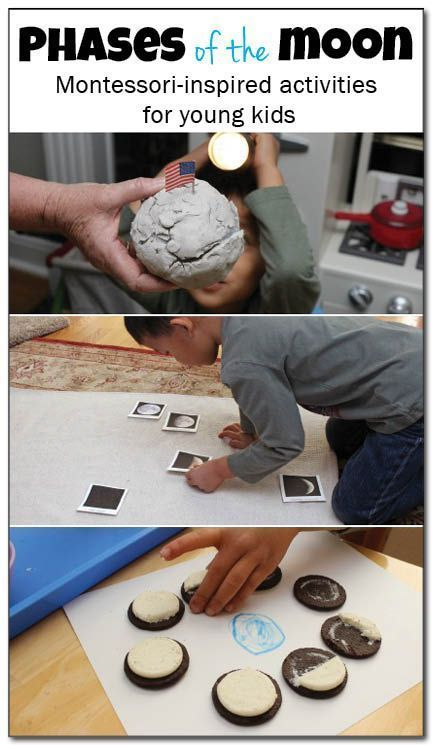 Montessori-inspired phases of the moon activities