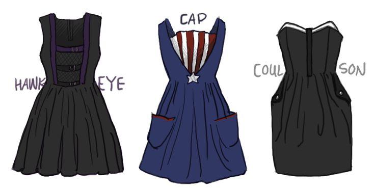 Avengers-themed dressesFashion, Costumes, Dresses Inspiration, Captain America, Avengers Dresses, Dresses Design, Super Heroes, Dress Designs, The Avengers