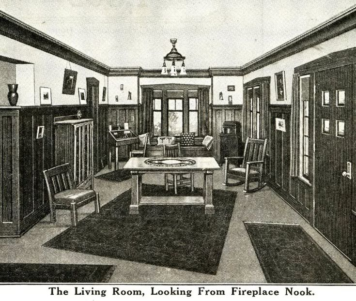 Interior View Of Sears Ashmore Craftsman Living Rooms