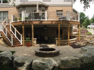 Best 25 walkout basement patio ideas on pinterest for Deck ideas above walkout basement