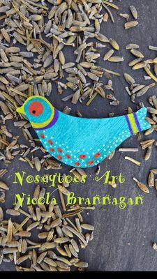Wooden Bird Brooch – brooch for bird lovers