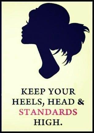 Mantén tus tacos, cabeza y estándares altos.