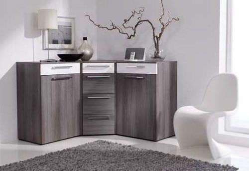 buffet contemporain d 39 angle en bois alegro basic nolte. Black Bedroom Furniture Sets. Home Design Ideas