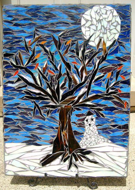 Eighth Grade Mosaic- Winter: Seasons Mosaics, Winter Trees, Mosaics Trees, Eighth Grade, Trees Mosaics, Mosaics Inspiration, Grade Mosaics, Art Wint, Kid