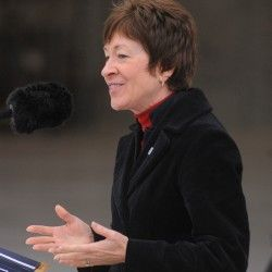 Susan Collins wants to change definition of full-time worker under Affordable Care Act.