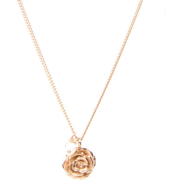Laura Lee Rose Gold Plate With Pearl Detail Chain Necklace (2.495 ARS) ❤ liked on Polyvore featuring jewelry, necklaces, accessories, women, rose necklace, rose jewelry, rose gold plated jewelry, rose gold plated necklace and chain necklace