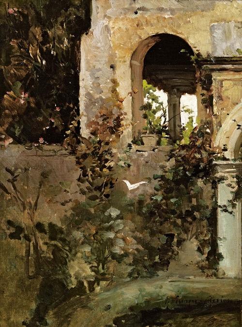 OLGA WISINGER-FLORIAN (1844-1926) Garden